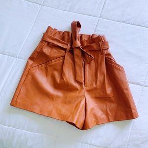 Orange Paperbag Shorts